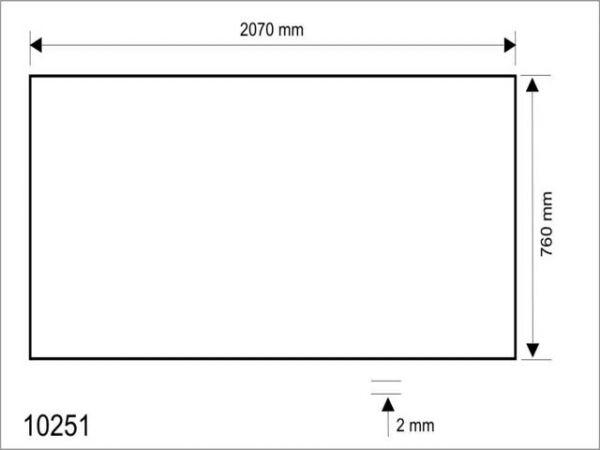 Стекло акриловое для солярия Hapro Luxura Delta 500/600. Левая сторона.